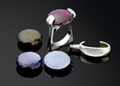 roque rings with interchangeable semiprecious stones